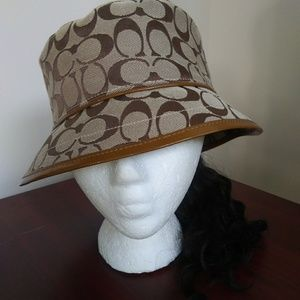 Coach | Signature Bucket Hat Brown Tan- Sz. LG.